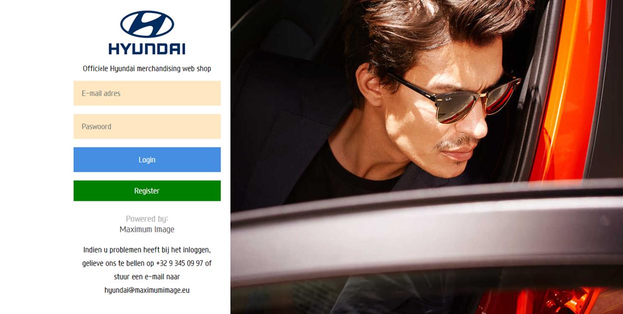 Hyundai webshop