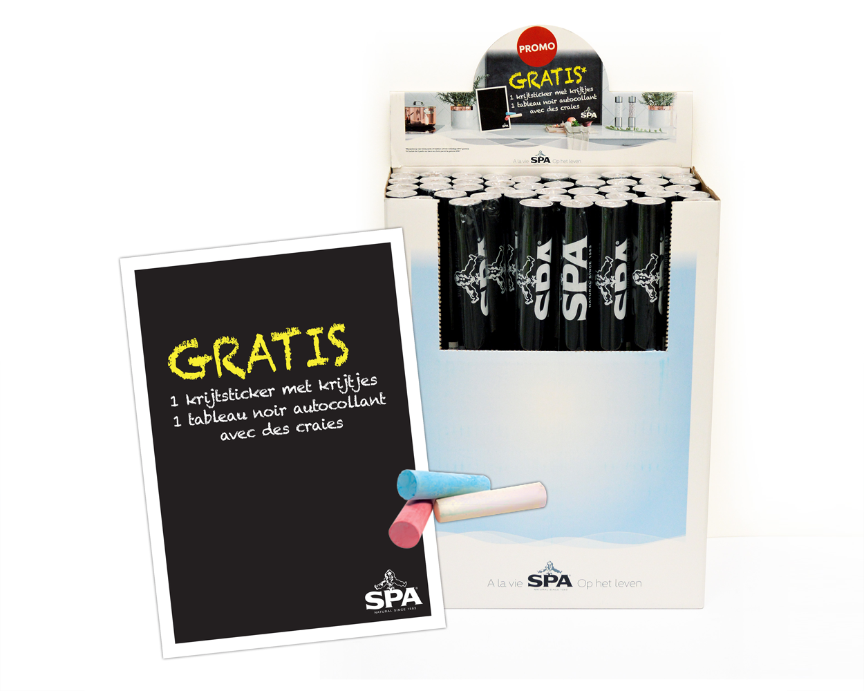 Spa krijtsticker & display