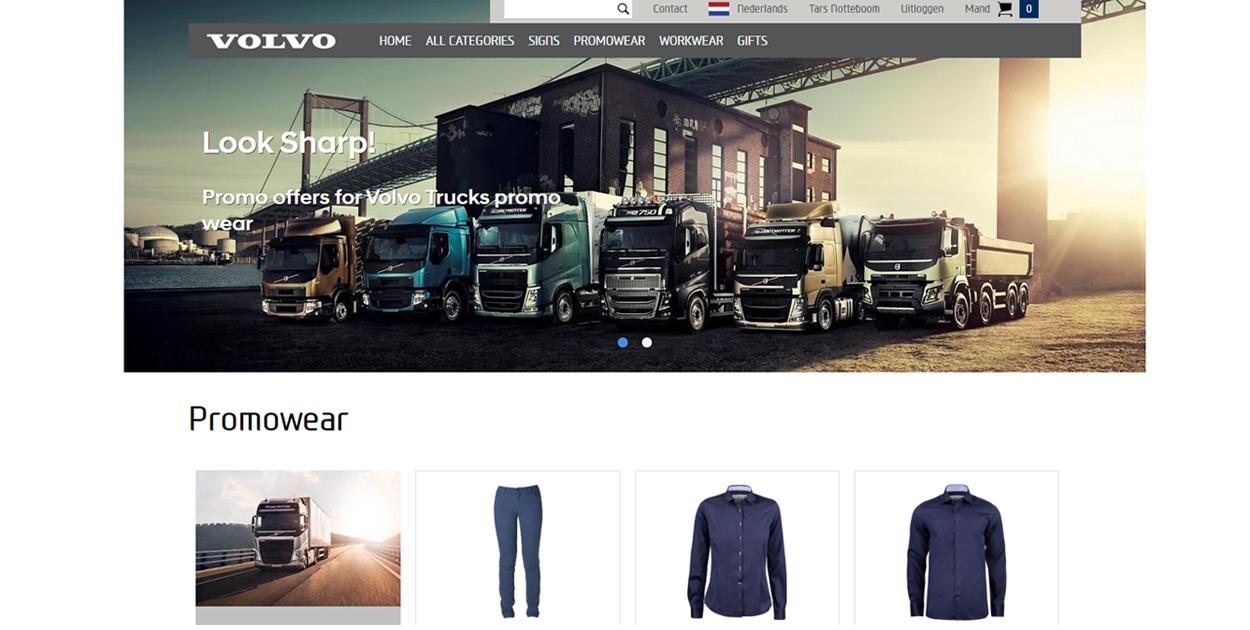 Volvo Trucks webshop